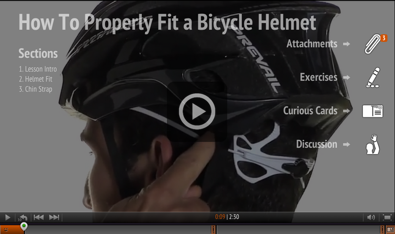Watch How to Properly Fit a Bicycle Helmet