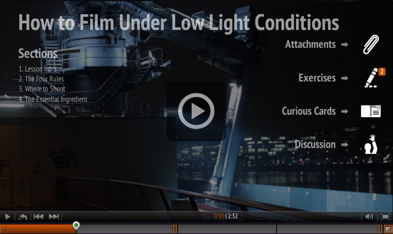 How to Film Under Low Light Conditions