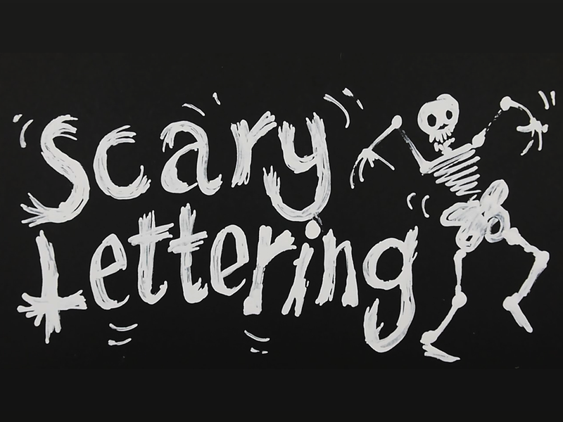 Scary Lettering