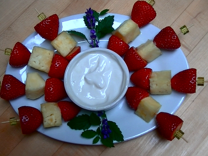 Strawberry and Pineapple Skewers