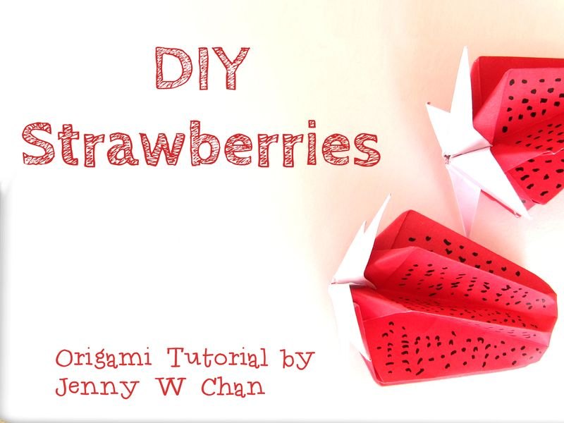 How to Make Origami Strawberries